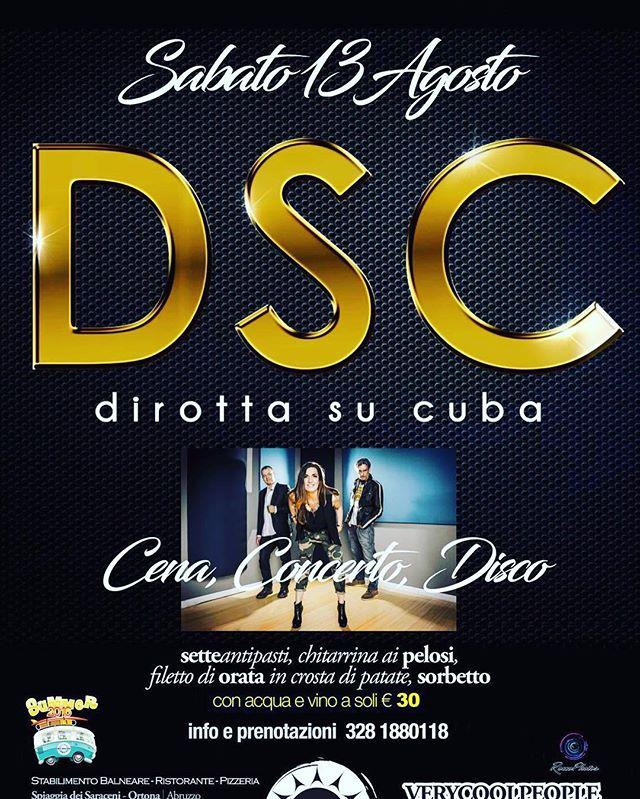 stasera-cena-concerto-dei-dirottasucuba-a-ortona-lidoeldorado-music-instamusic-funky-seituttoquelloc